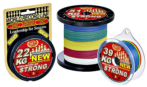 WFT NEW KG Strong 8-fach 8-fach Strong geflochtene Schnur verschiedene Sorten d4fc27