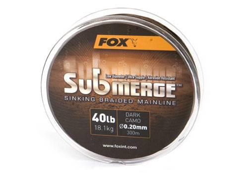 Fox Submerge Sinking Sinking Submerge Braid geflochtene Schnur verschiedene Sorten 0f5283