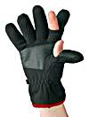 DAM Fleece Handschuhe schwarz